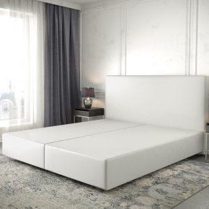 Boxspring frame Dream-Well Wit 180x200 cm Kunstleder Beddengoed