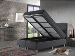 Complete Opbergboxspring 160x200 cm - Dreamhouse Space - Tweepersoons bed/boxspring met opbergruimte
