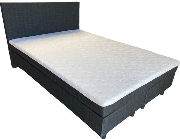 Complete boxspring Babette - 180x200 - Incl. pocketvering matras - Antraciet