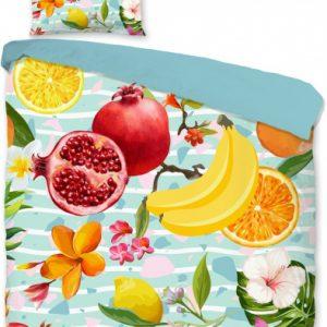 Good Morning dekbedovertrek Fruit 140 x 220 cm katoen 2-delig