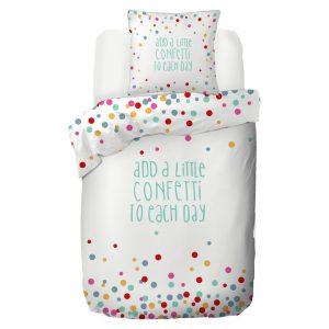 Kinderdekbedovertrek Confetti - 140 x 200/220 cm - multicolour