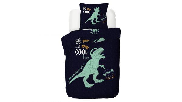 Kinderdekbedovertrek Dino - 140 x 200/220 cm - multicolour