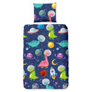 Kinderdekbedovertrek Dinospace - 140 x 200/220 cm - multicolour