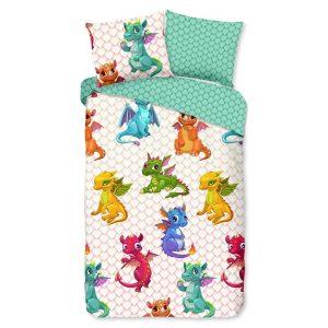 Kinderdekbedovertrek Dragons - 140 x 200/220 cm - multicolour