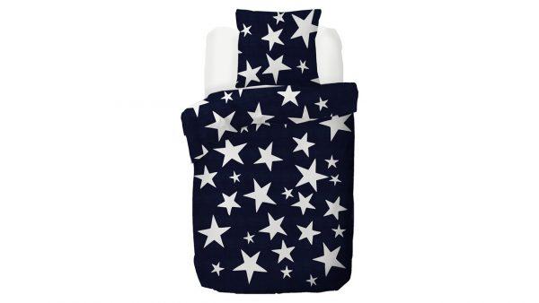 Kinderdekbedovertrek Stars - 140 x 200/220 cm - blauw
