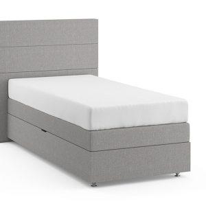 Opbergboxspring Florence Vlak Met Silver Pocket Foam Matras - 90 x 200 cm - grijs