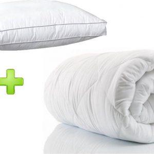 Select Duopack - 1x Hotel dekbed 3DTEX enkel 400g. 140x200 cm plus 1x Box hoofdkussen 50x60 cm