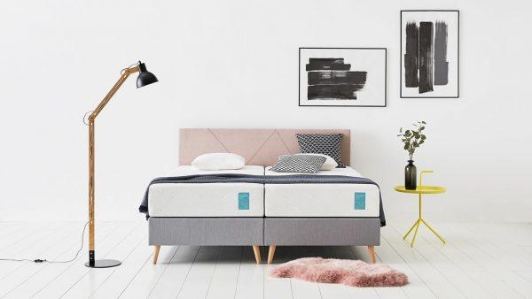 Tempur® Boxspring One™ Graphic Vlak - 140 x 200 cm - pink/stone grey