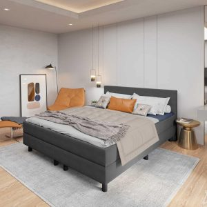 boxspringset DELTA - 160x200 - Creme - Tweepersoons