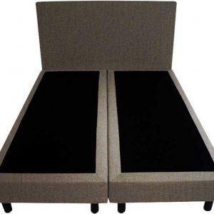 Bedworld Boxspring 120x200 - Velours - Bruin (ML20)