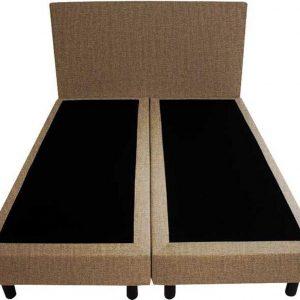 Bedworld Boxspring 120x200 - Velours - Licht bruin (ML09)