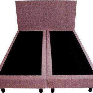Bedworld Boxspring 120x210 - Geveerd - Linnenlook - Oud roze (S61)