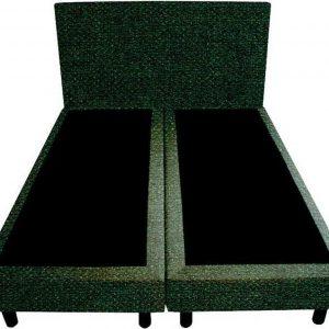 Bedworld Boxspring 120x210 - Geveerd - Tweedlook - Donker groen (M37)