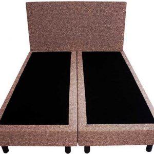 Bedworld Boxspring 120x210 - Geveerd - Wol look - Zalm roze (WL52)