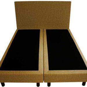 Bedworld Boxspring 120x210 - Velours - Okergeel (ML48)