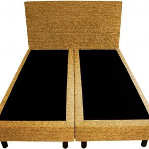 Bedworld Boxspring 120x210 - Waterafstotend grof - Okergeel (P48)