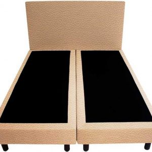 Bedworld Boxspring 120x220 - Lederlook - Oud roze (MD908)
