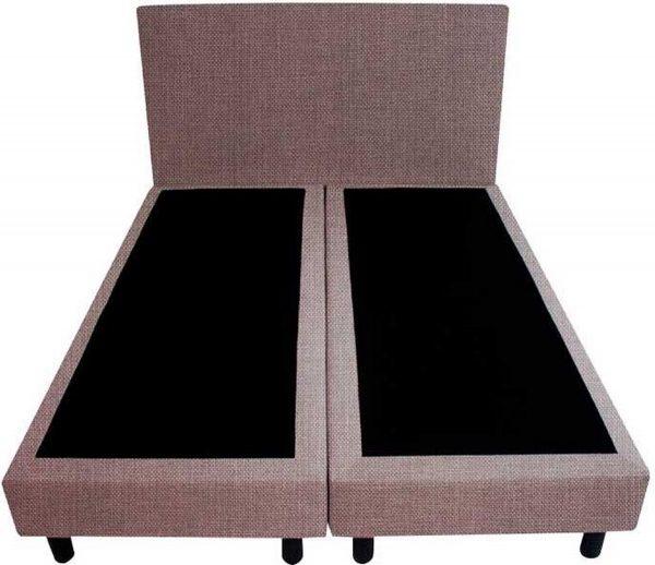 Bedworld Boxspring 120x220 - Linnenlook - Lila (S11)