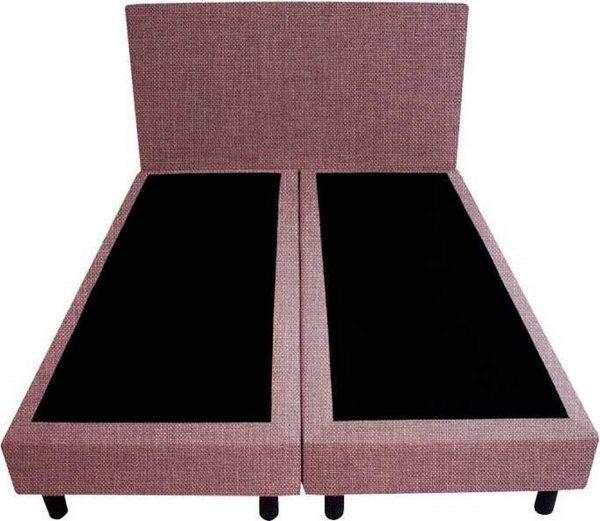 Bedworld Boxspring 120x220 - Linnenlook - Oud roze (S61)