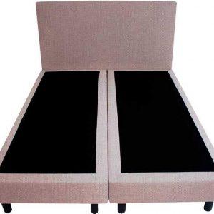 Bedworld Boxspring 120x220 - Linnenlook - Zilvergrijs (S84)