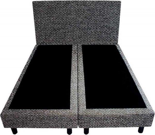 Bedworld Boxspring 120x220 - Tweedlook - Donker grijs (M95)