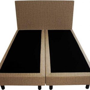 Bedworld Boxspring 120x220 - Velours - Licht bruin (ML09)