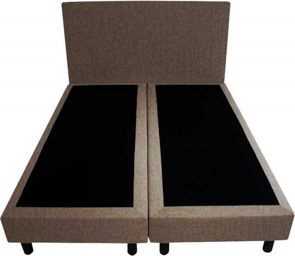 Bedworld Boxspring 120x220 - Velours - Taupe (ML15)