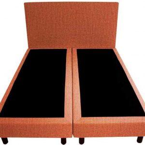 Bedworld Boxspring 120x220 - Velours - Zalm roze (ML61)