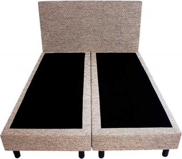Bedworld Boxspring 120x220 - Waterafstotend grof - Donker beige (P80)