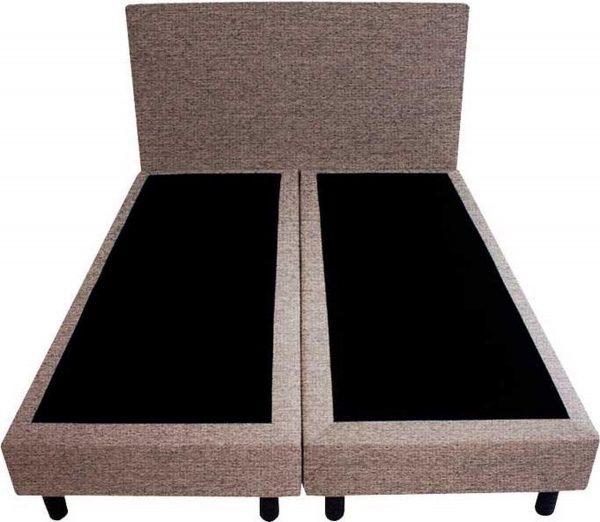 Bedworld Boxspring 120x220 - Waterafstotend grof - Grijs (P16)