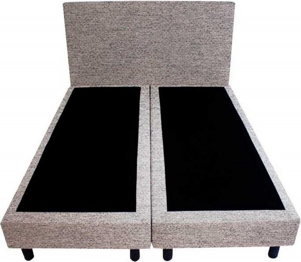Bedworld Boxspring 120x220 - Waterafstotend grof - Licht grijs (P92)
