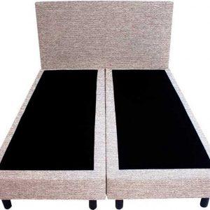 Bedworld Boxspring 120x220 - Waterafstotend grof - Wit grijs (P84)