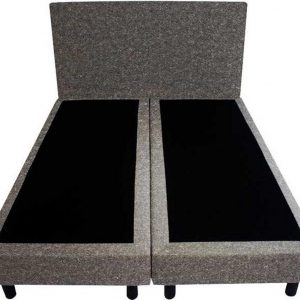 Bedworld Boxspring 120x220 - Wol look - Donker grijs (WL89)