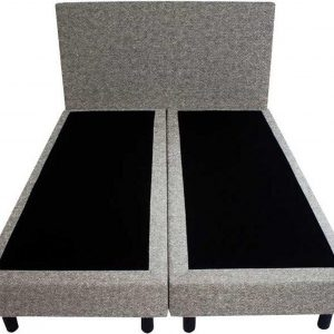 Bedworld Boxspring 120x220 - Wol look - Grijs (WL23)