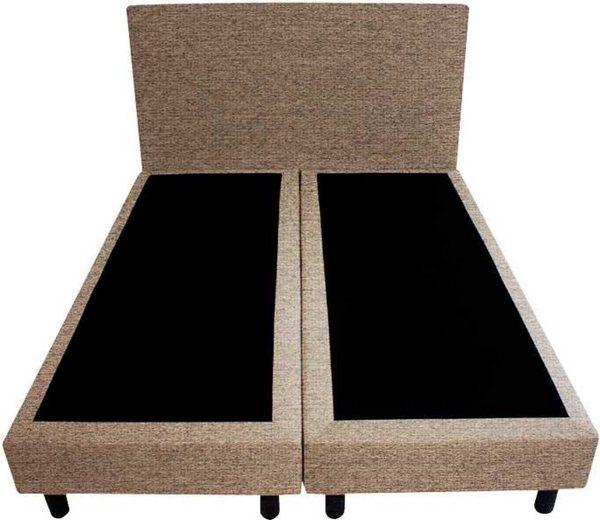 Bedworld Boxspring 140x200 - Waterafstotend grof - Licht bruin (P15)