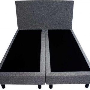 Bedworld Boxspring 140x200 - Wol look - Antraciet (WL97)