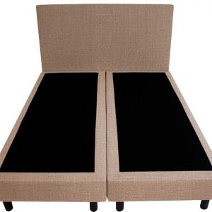 Bedworld Boxspring 140x220 - Linnenlook - Donker beige (S17)