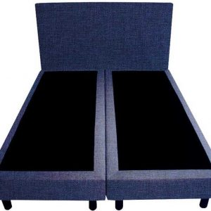 Bedworld Boxspring 140x220 - Linnenlook - Donker blauw (S80)