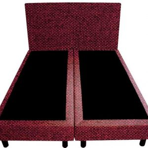 Bedworld Boxspring 140x220 - Tweedlook - Bordeaux rood (M63)