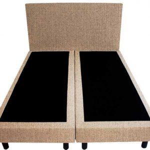 Bedworld Boxspring 140x220 - Waterafstotend fijn - Donker beige (MV09)