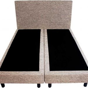 Bedworld Boxspring 140x220 - Waterafstotend grof - Donker beige (P80)