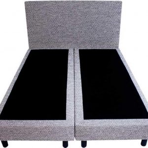 Bedworld Boxspring 140x220 - Waterafstotend grof - Donker grijs (P89)