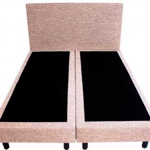 Bedworld Boxspring 140x220 - Waterafstotend grof - Licht roze (P61)