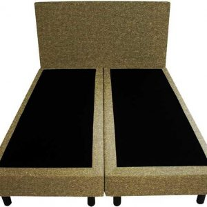 Bedworld Boxspring 140x220 - Wol look - Olijfgroen (WL45)