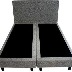 Bedworld Boxspring 160x200 - Lederlook - Blauw (MD976)