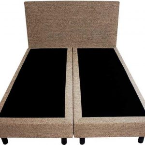 Bedworld Boxspring 160x200 - Waterafstotend grof - Licht bruin (P15)