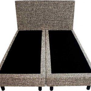 Bedworld Boxspring 160x220 - Tweedlook - Donker beige (M16)