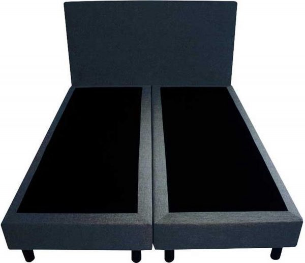 Bedworld Boxspring 160x220 - Velours - Blauw (ML77)