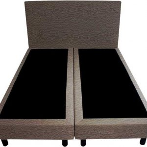 Bedworld Boxspring 180x220 - Lederlook - Antraciet (MD995)