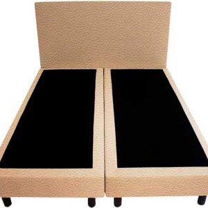 Bedworld Boxspring 180x220 - Lederlook - Oud roze (MD908)